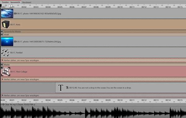 Das Kapitel - mit mehreren Spuren und Animationen arbeiten