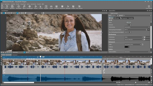Video editing with SlideShow 10 and Stages