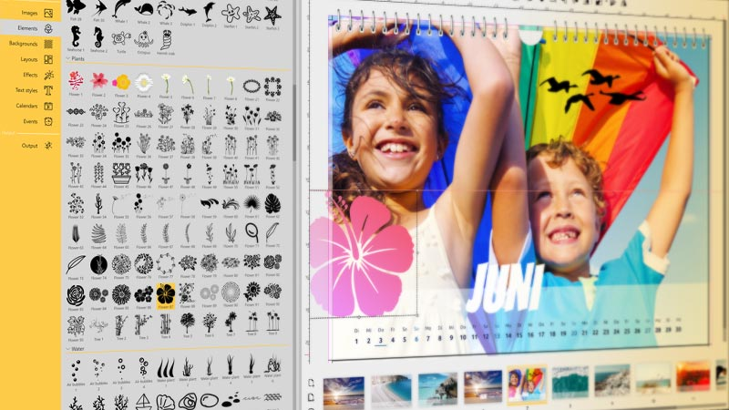 Decorative elements and templates