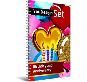 """YouDesign Set """"Birthday and anniversary"""""""
