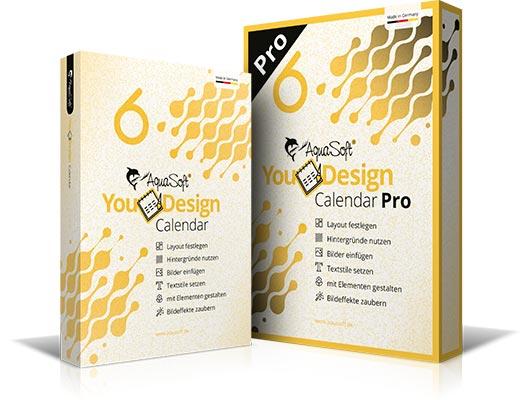 AquaSoft YouDesign Calendar und Calendar Pro