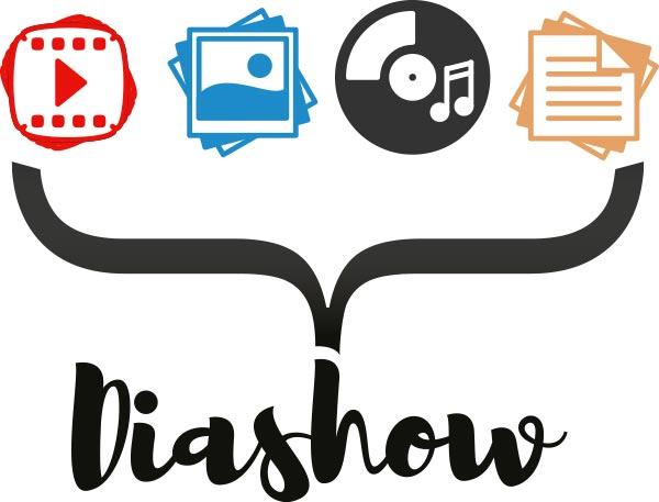 Kreieren Sie eigene Diashows aus Ihren Bildern, Videos, Texten und Musik